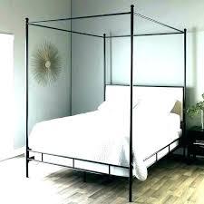 white full size canopy bed frame – LABONAPASTA