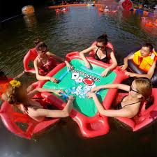 Inflatable Table Inflatable Floating Card Table And Chairs Poker Floats Set For Pool