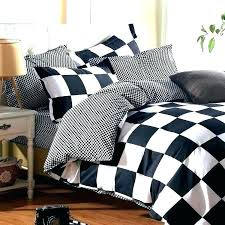 grid bed sheets king size jersey sheets sheet set classic black and white bed linen bedding