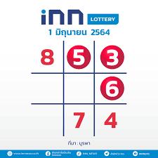 เลขดัง งวดวันที่ 1 มิถุนายน 2564 กับ INN Lottery