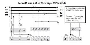 explanation of voltage and current input wiring diagram for explanation of voltage and current input wiring diagram for ion8600 form 9 and 9s 3 wire wye 3pts 2cts