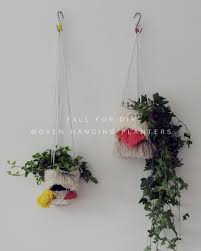 Hanging Planters Diy Woven Hanging Planters Fall For Diy