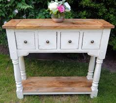 painted console table. Rustic Console Table (painted Finish) . Painted