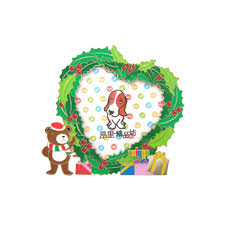 promotional and corporate gift heart shape metal photo frame