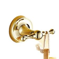 Brass Bathroom Accessories Auswind Antique Polished Solid Brass Zirconium Gold Cloth Hooks