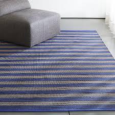 captivating blue indoor outdoor rug sachi blue stripe indooroutdoor rug crate and barrel