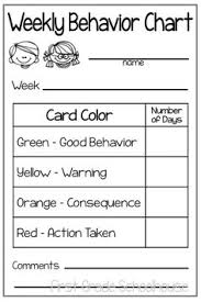 57 Best Good Behavior Chart Images Behaviour Chart
