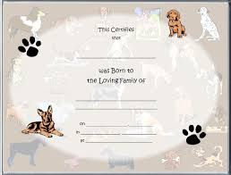 dog birth certificates 13 images of dog birth certificate template printable diygreat com