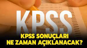KPSS sınav sonuçları için tarih verildi mi?