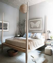 Enchanting Teak Wooden High Poster Bed With Butterfly Artwork ...