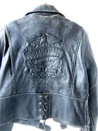 harley davidson mens jackets vintage jean jacket with by ad on leather biker xl