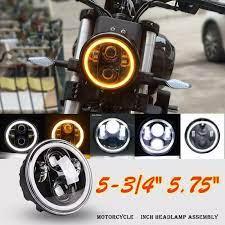 1 Chiếc Đèn Pha LED Tròn 5.75 Inch Đèn Xi Nhan Đèn Tín Hiệu Rẽ Halo Angle  Eyes Xe Máy DRL Phù Hợp Cho Harl Ey Davidson Dyna 300W 6000K 30000LM