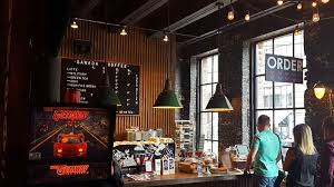 Giant industrial windows set into exposed brick walls flood the front of sawada with. Chicago S Sawada Coffee And Its Military Latte The Adventures Of Elatlboy