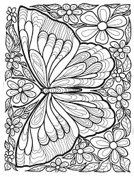 Small Picture Adult Coloring Pages Butterflies