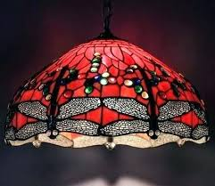 tiffany lamp shade red lamp dragonfly style stained glass lamp shade hanging lamp handcrafted red style tiffany lamp shade