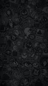 Iphone Black Wallpaper Doodle