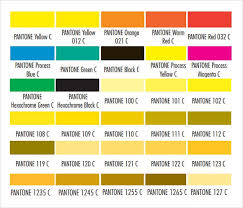 Color Chart With Names Free 8 Sample Pantone Color Charts In Word Pdf