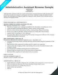 Administrative Assistant Resume Example Best For Position