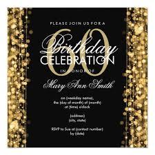 60 birthday invitations elegant 60th birthday party sparkles gold card zazzle com