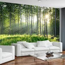Custom Photo Wallpaper 3D Green Forest ...