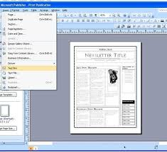 Microsoft Office Newspaper Template Microsoft Publisher Email
