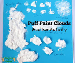 Identifying Cloud Types Puff Paint Clouds