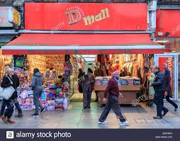 Designer Shops In Gibraltar Small British Shopping Mall Stock Photos Small British