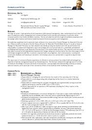 Gallery Of Resume Cv American Resumes Cv An Example Of A