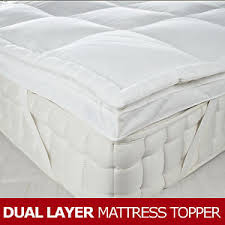 thick mattress topper. Image Is Loading Dual-Layer-Goose-Feather-amp-Down-Mattress-Topper- Thick Mattress Topper T