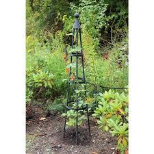 achla designs obelisk garden trellis