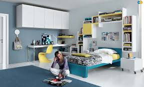 image teenagers bedroom. Blue Yellow White Contemporary Teenagers Room Image Bedroom M