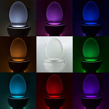 LIJUCAI <b>Night</b> Light Smart PIR Motion Sensor <b>Toilet Seat Night</b> Light ...