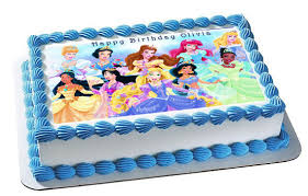 Disney Princess Edible Birthday Cake Topper