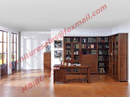 Home Study Furniture Wood Antique Design Furniture Desk With Drawers In Home Study Room Use