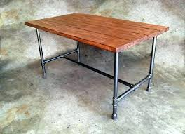 pipe table legs galvanized pipe desk standing desks built with and  simplified pvc pipe table legs