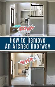 remove an arched doorway in a wall