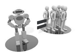 ロボットの能力人の能力aiテクノロジー 無料イラスト イメージを