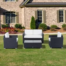 small space patio furniture sets. Outdoor Furniture Round Couch Resin Wicker Patio Sets Garden Corner Sofa Small Space