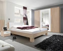 Schlafzimmer Komplett 4 Teilig Sonoma Eiche Hell Weiß Bett