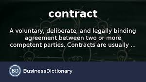 Legal Contract Gorgeous What Is Contract Definition And Meaning BusinessDictionary