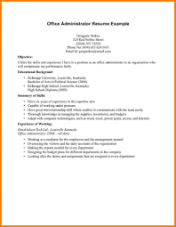 High School Resume Template No Experience Side Free Graduate Work