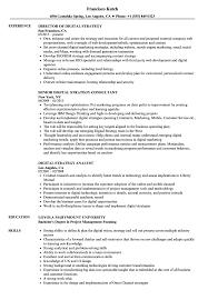 Digital Strategist Resume Digital Strategy Resume Samples Velvet Jobs