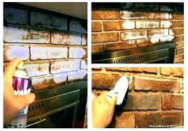 clean fireplace brick clean inside fireplace how