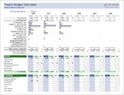 This Yearly Budget Calculator Includes Columns For Budget Vs Actual