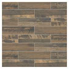 marazzi montagna wood weathered brown 6 in x 24 in porcelain floor and wall