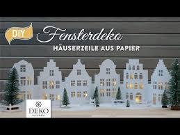 Diy Weihnachtsdeko Fensterdeko Mit Häuserzeile Aus Papier