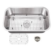 schon all in one undermount stainless steel 30 in 0 hole single bowl kitchen sink scsb301818 the home depot