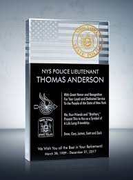 Police Retirement Plaque And Wording Samples Diy Awards