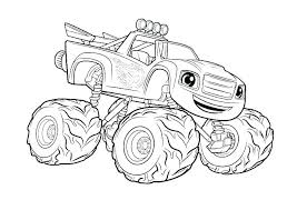 Blaze Coloring Sheets Blaze Coloring Pages Online Blaze And The