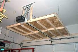 suspended garage storage hanging overhead ideas ceiling mounted shelves shelving stor garage hanging storage